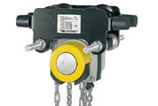 Hand chain hoist with integrated push or geared type trolley model Yalelift IT
